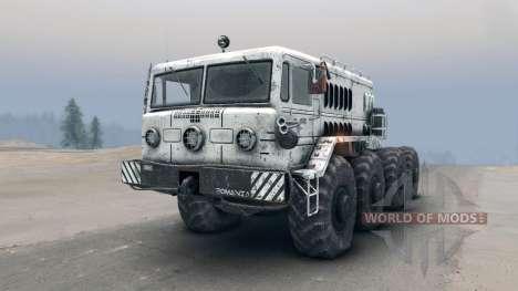 Белый МАЗ-535 для Spin Tires