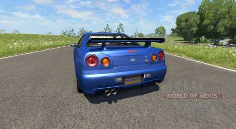 Nissan Skyline R34 для BeamNG Drive