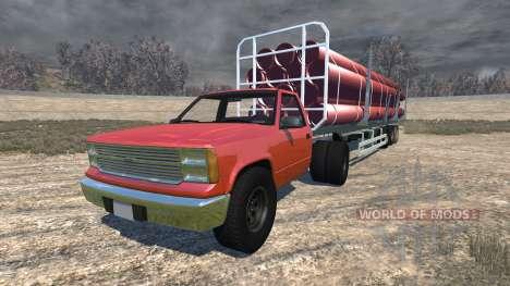 Gavril D-Series full size logging trailer для BeamNG Drive