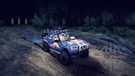 Jeep Grand Cherokee WJ Red Bull для Spin Tires