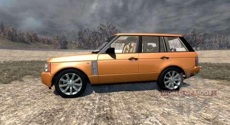 Range Rover Supercharged 2008 [Orange] для BeamNG Drive