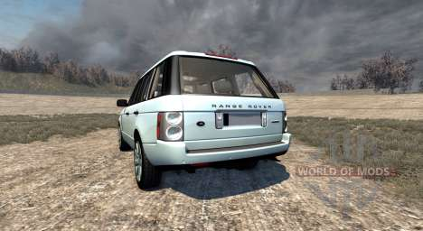 Range Rover Supercharged 2008 [White] для BeamNG Drive