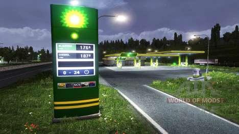 Европейские автозаправочные станции для Euro Truck Simulator 2