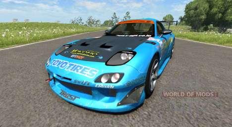 Mazda RX-7 Drift GReddy для BeamNG Drive
