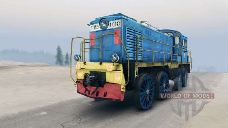 Тепловоз ТГМ3 для Spin Tires