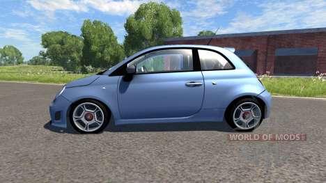 Fiat 500 Abarth Blue для BeamNG Drive