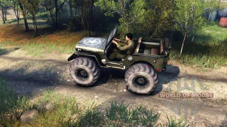 Jeep Willys для Spin Tires