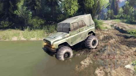 УАЗ-469 Monster Truck v3 для Spin Tires