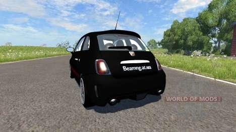 Fiat 500 Abarth Black для BeamNG Drive