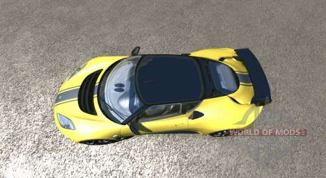 Lotus Evora GTE 2011 [Yellow] для BeamNG Drive