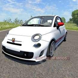 Fiat 500 Abarth White для BeamNG Drive
