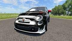 Fiat 500 Abarth White and Black