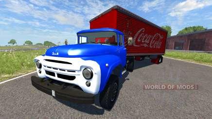 ЗиЛ-130В1 с полуприцепом Coca-Cola для BeamNG Drive