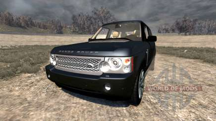 Range Rover Supercharged 2008 [Black] для BeamNG Drive