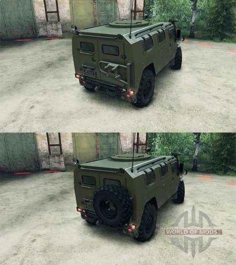 ГАЗ-2975 Тигр для Spin Tires