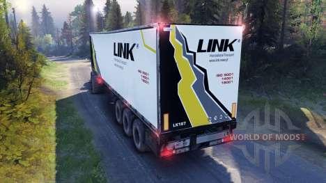 Полуприцеп LINK для Spin Tires