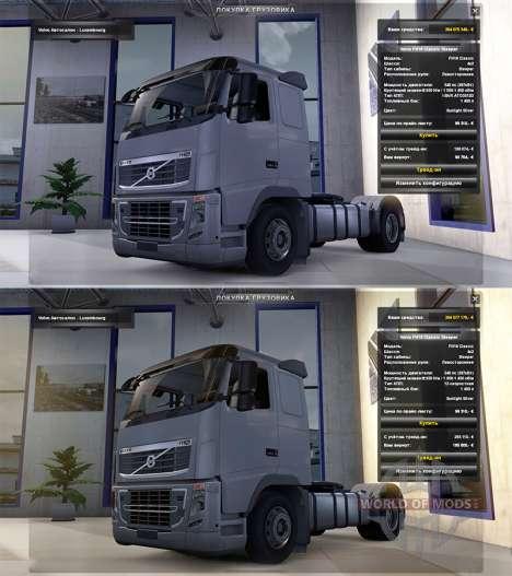 Реалистичная физика v1.3 для Euro Truck Simulator 2