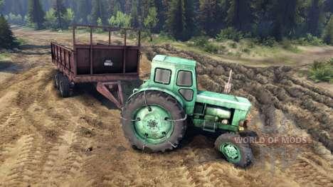 Прицеп для трактора Т-40АМ для Spin Tires