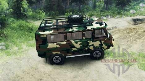 УАЗ-3909 внедорожный v2.0 для Spin Tires