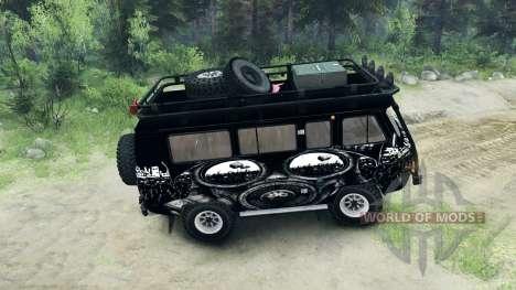 УАЗ-3909 внедорожный v3.0 для Spin Tires