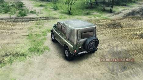 Бампера и колёса на УАЗ для Spin Tires