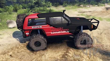 Jeep Cherokee XJ v1.1 Rough Country red clean для Spin Tires