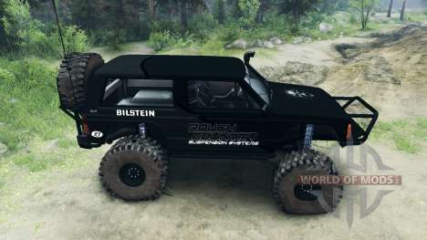Jeep Cherokee XJ v1.1 Rough Country black для Spin Tires