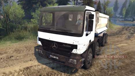 Mercedes-Benz Actros Tipper для Spin Tires