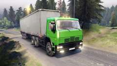 КамАЗ-6522 в зелёном окрасе