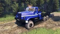 КрАЗ-255Б в синем окрасе -KrAZ Power 8-