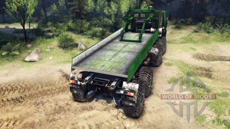 КрАЗ-7Э6316 v2.0 Green для Spin Tires