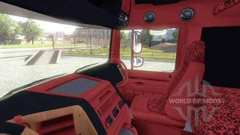 Интерьер для DAF -Red & Orange- для Euro Truck Simulator 2