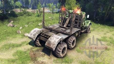 КрАЗ-255 camo v1 для Spin Tires