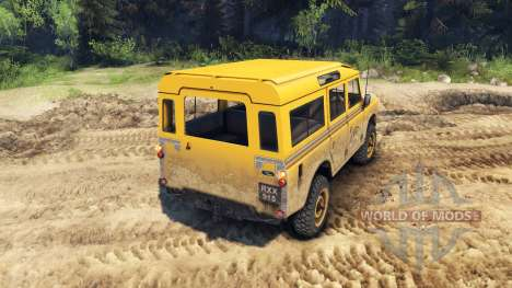 Land Rover Defender Camel Trophy для Spin Tires