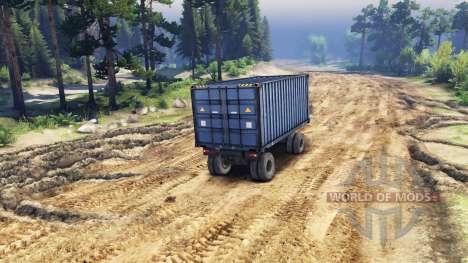 Прицеп-контейнер для ЗиЛ-133 Г1 и ЗиЛ-133 ГЯ для Spin Tires