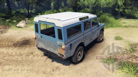 Land Rover Defender Blue для Spin Tires