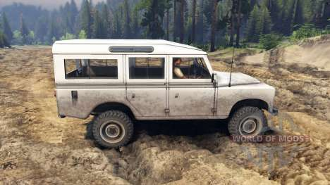 Land Rover Defender White для Spin Tires
