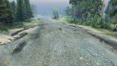 Щебневая дорога