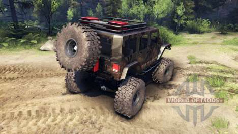 Jeep Wrangler Unlimited SID Fabtech для Spin Tires