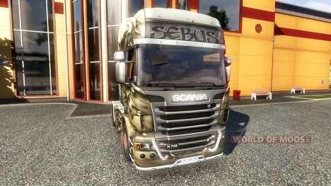 Окрас -Sebus Joker- на тягач Scania для Euro Truck Simulator 2
