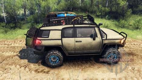 Toyota FJ Cruiser коричневый для Spin Tires