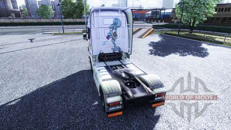 Окрас -Spongebob- на тягач Scania для Euro Truck Simulator 2