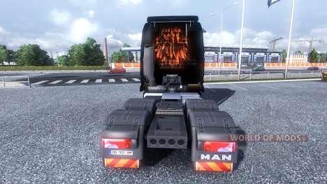 Окрас -Rammstein- на тягач MAN для Euro Truck Simulator 2