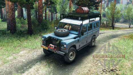 Land Rover Defender Series III v2.2 Blue для Spin Tires