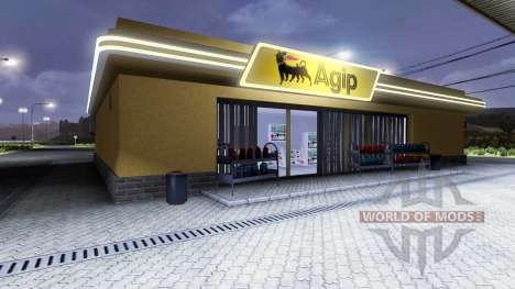 АЗС Agip для Euro Truck Simulator 2