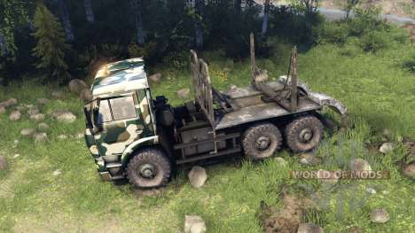 КамАЗ-6520 camo v4 для Spin Tires