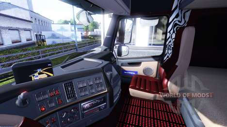 Новый интерьер для тягочей Volvo для Euro Truck Simulator 2