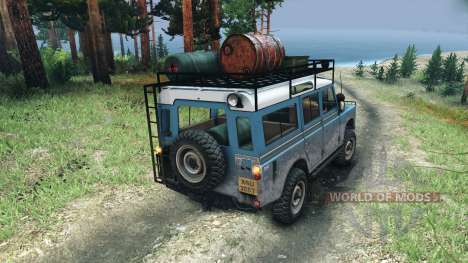 Land Rover Defender Series III v2.2 Blue для Spin Tires
