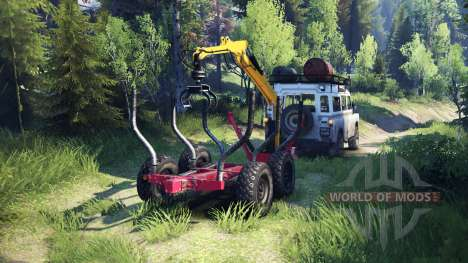 Land Rover Defender Series III v2.2 White для Spin Tires