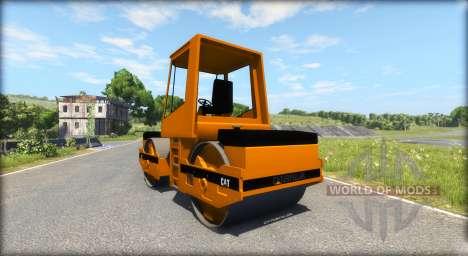 Асфальтовый каток Caterpillar для BeamNG Drive